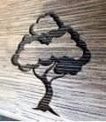 Dub - dekor stromy a tráva