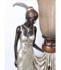 Figurální lampička ve stylu secese