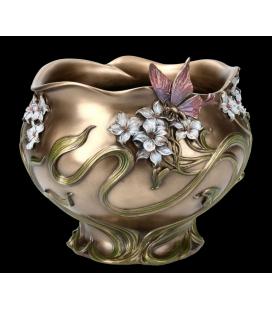 Mísa ve stylu secese - květiny s motýlem