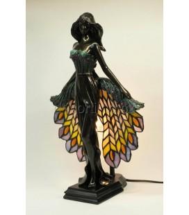 Figurální lampička - tanečnice s osvětlenou sukní