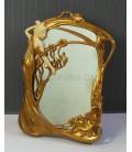 Secesní zrcadlo - dívka s květy