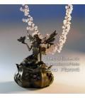 Secesní šperkovnice s vílou a motýlkem