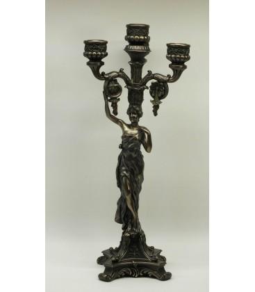 Secesní figurální svícen na 5 svíček