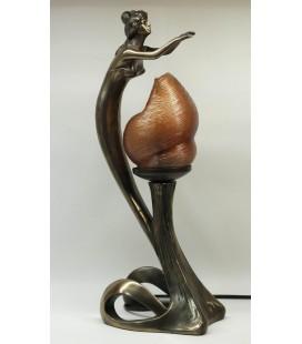 Figurální lampička - dívka nad plamenem