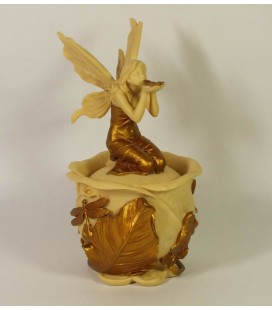 Secesní šperkovnice s vílou