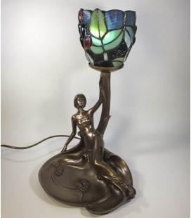 Secesní lampička s dívkou