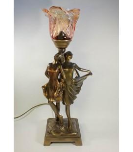Secesní lampička s tanečnicemi
