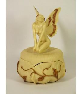 Secesní šperkovnice s motýlí vílou